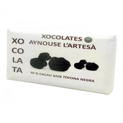 Chocolate Aynouse cacao 70% con trufa negra (100 g)