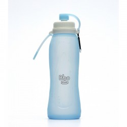 Botella PLEGABLE AZUL de silicona (500 ml)