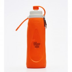 Botella PLEGABLE NARANJA de silicona (500 ml)